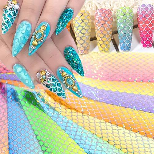 10pcs Snake Print Nail Foils Leopard Wild Animal Skin Transfer Sticker Sexy Slider Starry Sky Gel Polish Wrap Decoration SA1629