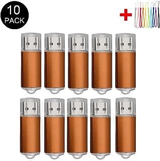 10PCS 2.0/3.0 USB Flash Drive Pen Drive Memory Stick Thumb Stick Pen Black (2.0/8GB, Orange)