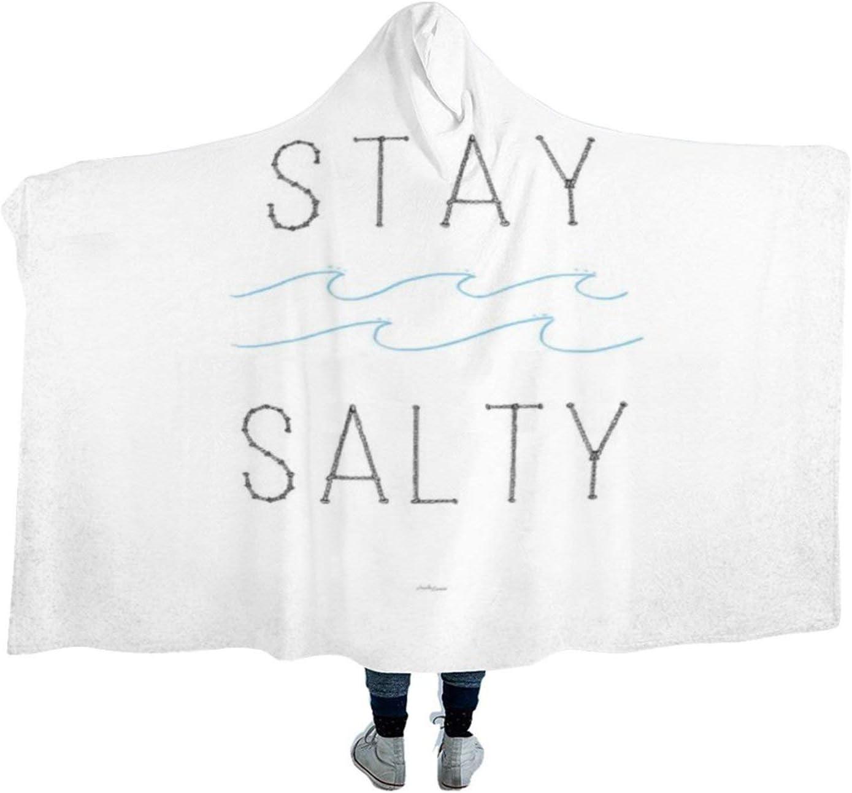 Hooded Blanket Soft 『4年保証』 Stay Sweatshi Wearable 休み Salty