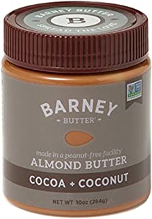 BARNEY Almond Butter, Cocoa + Coconut, No Stir, Non-GMO, Gluten-Free, Skin-Free, Paleo Friendly, KETO, 10 Ounce