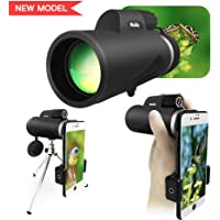 Meckily 12X50 High Power Monocular Single Hand Focus Telescope