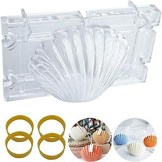 Moule en plastique pour fabrication de bougies parfumées en coquillage festonné - Pour aromathérapie, savon, décoration de...