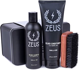 Zeus Basic Beard and Moustache Grooming Kit for Men - Beard Care Starter Kit to Help with Itching and Dry Skin (Scent: Van...