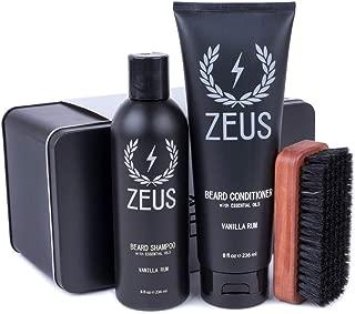 ZEUS Basic Beard and Mustache Grooming Kit for Men, Vanilla Rum