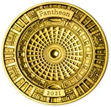 Pantheon 4 Layer Moneda Oro 50$ Solomon Islands 2021