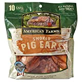 AMERICAN FARMS Smoked Pig Ears for Dogs 10Count
