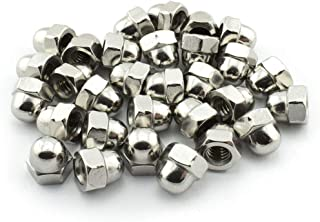 Liyafy M4 Acorn Nuts Nicked Plated Steel Dome Head Cap Hex Nuts for Office Appliance Communication Equipment Ship Assembly 300Pcs