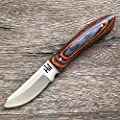 Hobby Hut HH-323 Custom Handmade Hunting Knife with Sheath, Fixed Blade Buschraft Knife Full Tang Designed for Camping and Survival