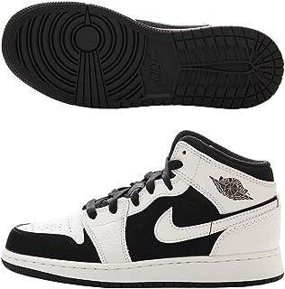 Nike Air Jordan 1 Mid (GS), Chaussures de Fitness Homme