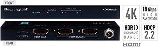 Key Digital 1x2 4K 18G HDMI Distribution Amplifier