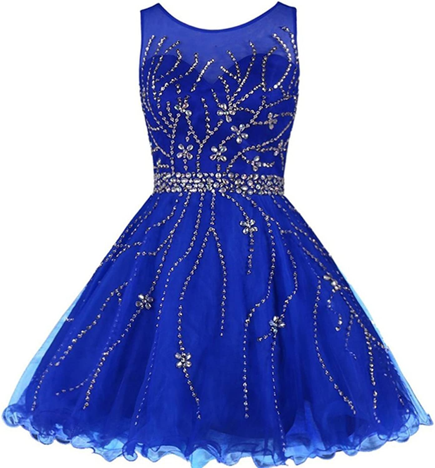 EllieHouse Womens Short Crystal Prom Gown Homecoming Dress H200