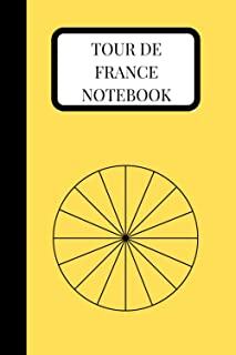 Tour de France Notebook. 120 page 6x9 lined notebook.