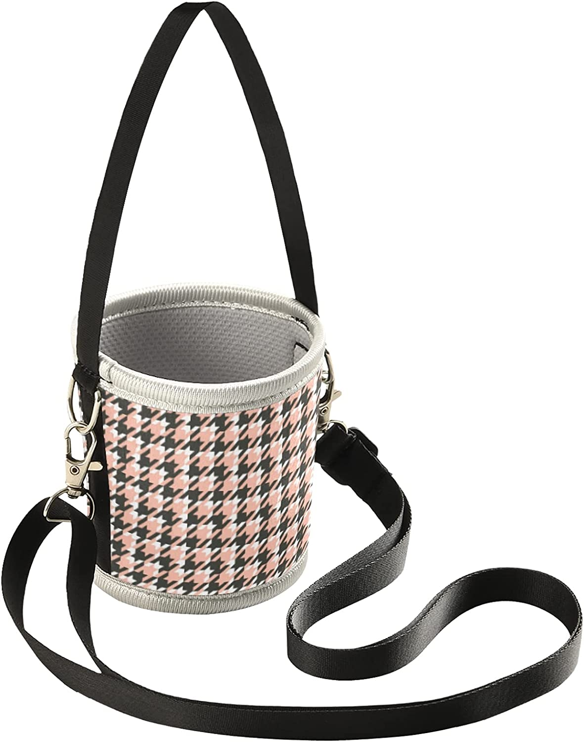 Iced Coffee Sleeve for Hot Cold Coffee Cup Houndstooth Reusable