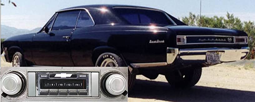 Custom Autosound Stereo compatible with 1966-1967 Chevelle Malibu, USA-630 II High Power 300 watt AM FM Car Stereo/Radio