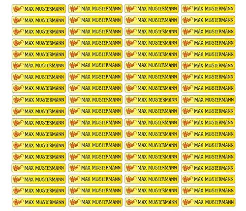 Stifteaufkleber für Bleistifte, Kugelschreiber & weitere Namensaufkleber - Aufkleber 49x7,5mm   72 Stück Kinder & Erwachsene Schule & Kindergarten 37 Hintergründe in Auswahl (06 Drache)