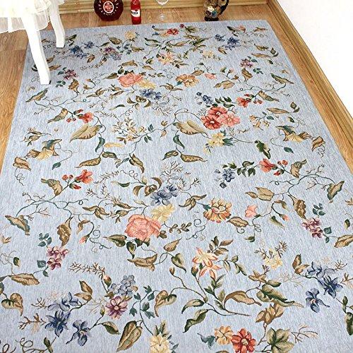 GRENSS 120x180cm Teppich Rechteck Teppich ländlichen Pastorale styleClassic Jacquard Teppiche für Wohnzimmer Schlafzimmer Teppiche Fleece Wolldecke