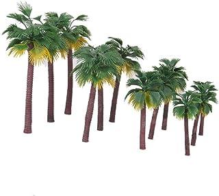 iplusmile Modell träd kokospalm landskap modell miniatyr järnväg diorama layout arkitektur träd för DIY landskap landskap ...