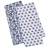 DII Cotton Printed Dish Towels, 18x28' Set of 2, Decorative Oversized Kitchen Towels, Perfect Home and Kitchen Gift-Tunisia Flowers
