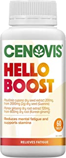 CENOVIS Hello Boost - Support Physical Endurance and Stamina - Relieve Tiredness - Reduce Mental Fatigue, 60 Tablets