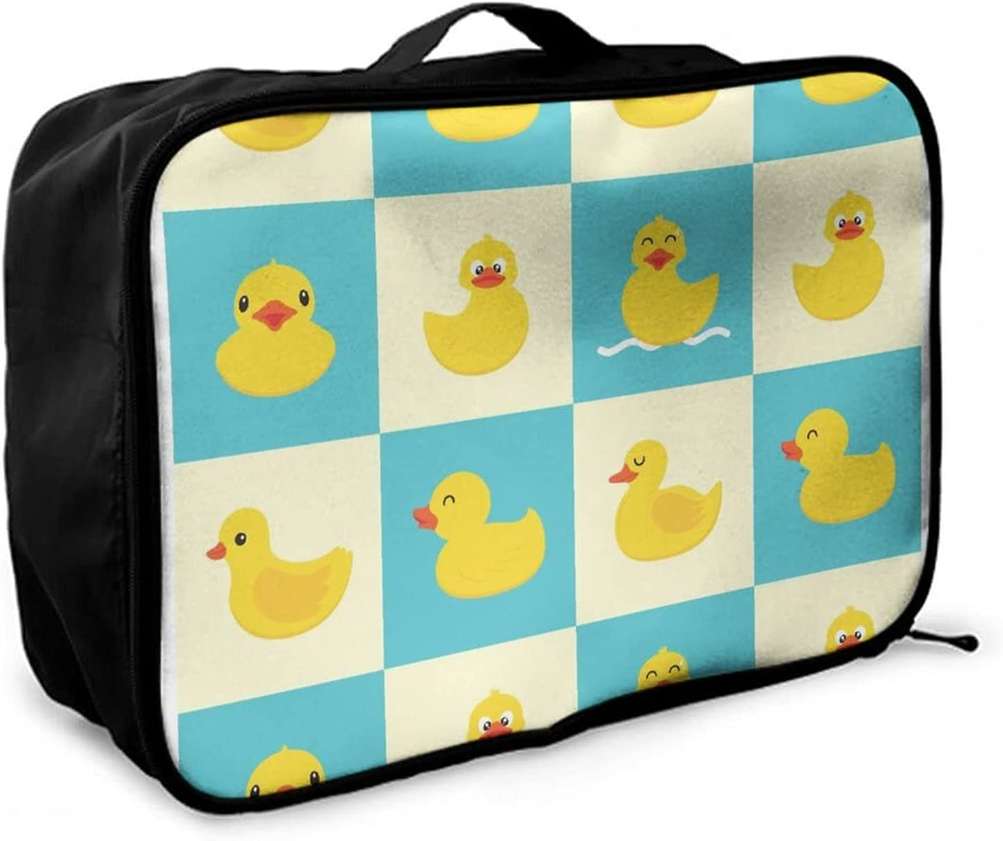 NiYoung Funny Rubber Detroit Mall Duck Travel Bag We Large Duffle Lightweight discount