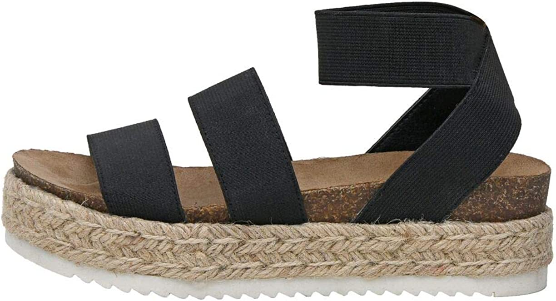 CUSHIONAIRE Women's Mandy famous Cork Sandal Wedge Espadrille OFFer