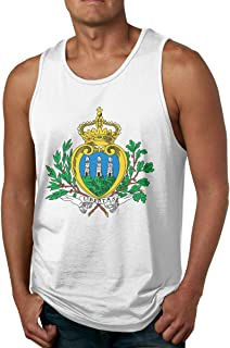 Rigg-vest Coat of Arms of San Marino Mens Basic Tank Top O-Neck Black Tank Top