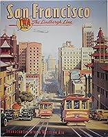 サンフランシスコ 古き良き時代の風景 アメリカンブリキ看板
