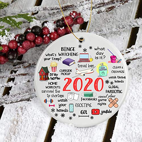 GearBubble 2020 Quarantine Ornament Things to Do During Coronavirus Outbreak,Christmas Ornament 2020 Gifts