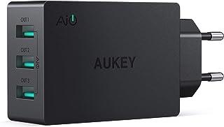 AUKEY Caricatore da Muro con 3 Porte 30W 6A Caricatore USB con AiPower per iPhone XS / XS Max / XR, iPad Air/Pro, Samsung,...
