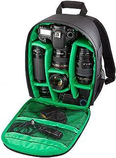 LHJ Kamerarucksack 2-3 Ersatzobjektive Mit Gro/ßem Fassungsverm/ögen Dickes Schwaches Padfach Geeignet F/ür Canon Nikon Sony Wasserdichter Rucksack,Red,34 13.5cm 27.5