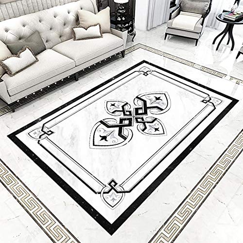 Benutzerdefinierte selbstklebende Tapete 3D-Marmorfliesen Bodenbild im europäischen Stil Wohnzimmer Hotel 3D-Bodenbelag Malerei PVC 3D-Aufkleber-250 * 175cm