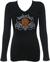 DivaDesigns Women's Basketball MOM Rhinestone T-Shirts
