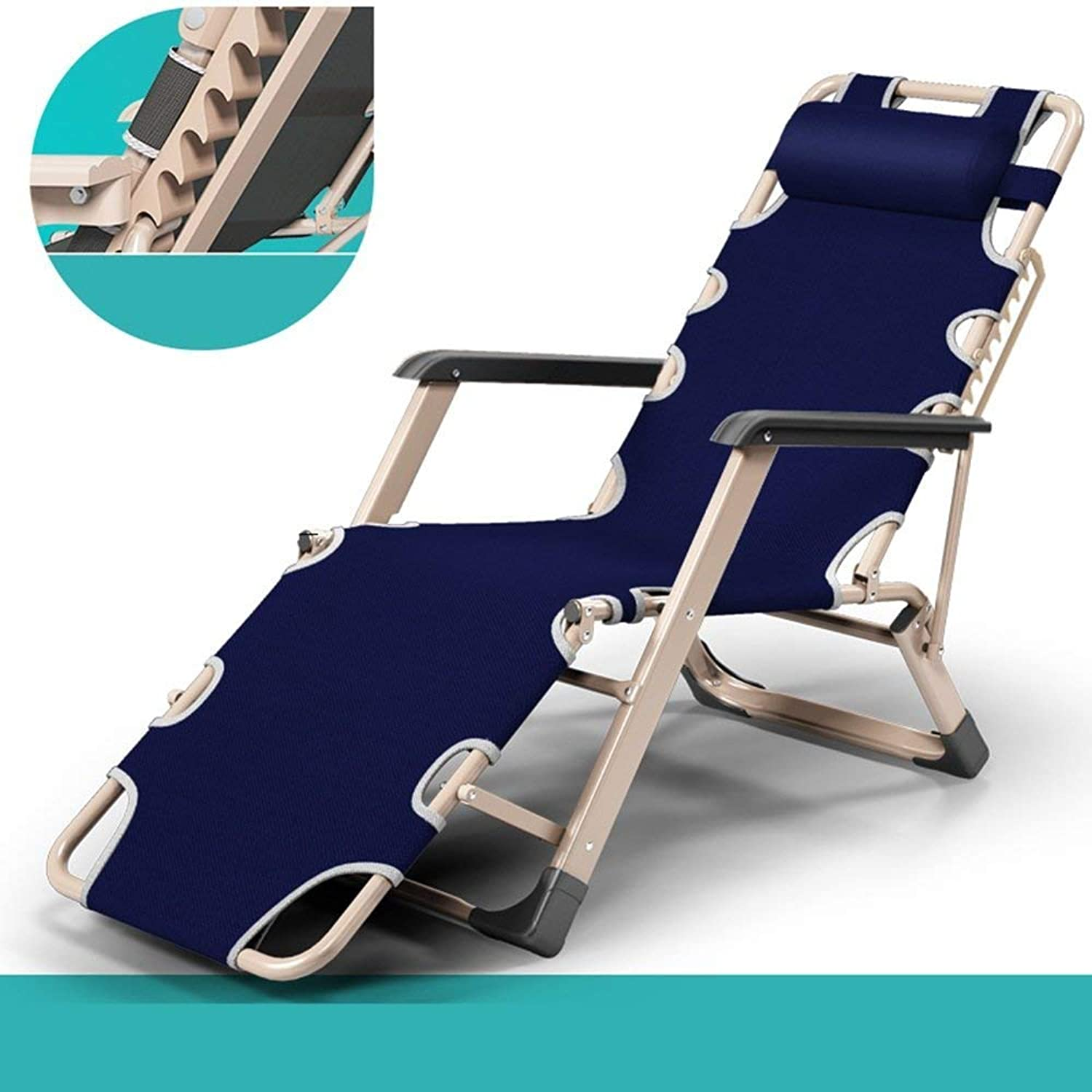Sofa Beds Foldaway Bed Single Bed Simple Loungers Lunch Break Adult Deckchair Cot (color  bluee)