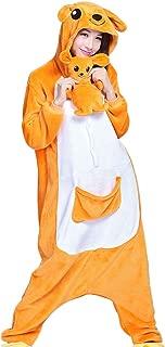 Unisex Adult Animal Pajamas - Kangaroo One Piece Plush Cosplay Onsies Sleepwear(Plush Toy Included)