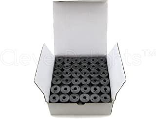 CleverDelights 144 Black Prewound Bobbins - 60wt - Size A Class 15 Bobbins - SA156 Replacement - for Brother Embroidery Machines - 7/16