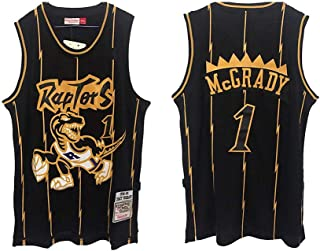 LLZYL Tejido Fresco y Transpirable, Camiseta NBA de los Toronto Raptors 1# McGrady All