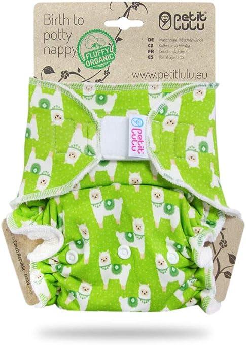 Fabriqu/é en Europe Couche Lavable Classique Petit Lulu MAXI NUIT Fermeture /à Pressions R/éutilisable /& Lavable Cat Meadow Fluffy Organic