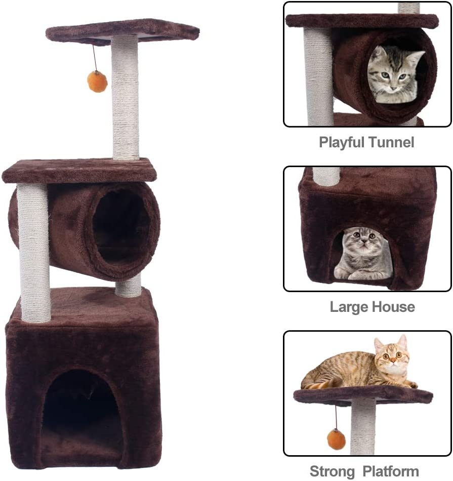 Ranking TOP15 AIAENT Cat Houses Max 61% OFF Condos - Sisal-Covered House cat Plush Sturdy