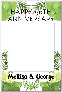 Light Green Wedding Anniversary Selfie Frame Photo Booth Prop Poster