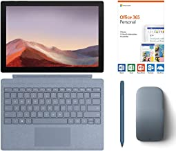 "$1004 » Microsoft Surface Pro 7 2-in-1 12.3"" Touchscreen Tablet 2736x1824, 10th Gen i5, 8GB RAM, 128GB SSD, Quad-Core, USB-C, Win 10 w/Office 365 Personal, Type Cover, Arc Mouse, Surface Pen - Ice Blue"