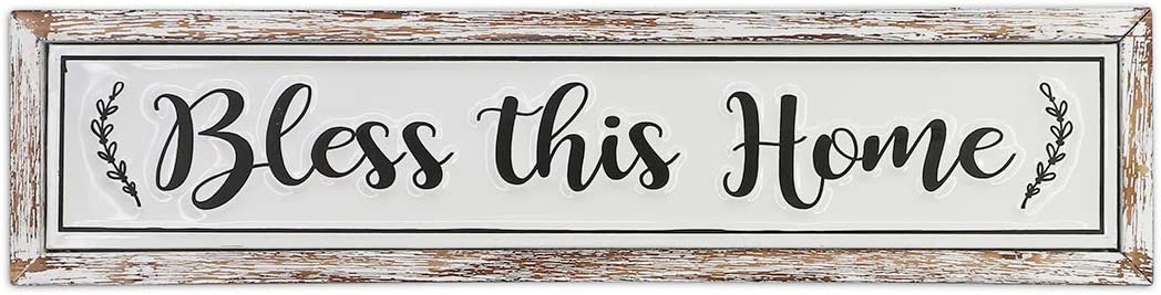 MACVAD Bless This Home Wood 5 popular Free Shipping Cheap Bargain Gift and for Sign Wall Decor Metal L