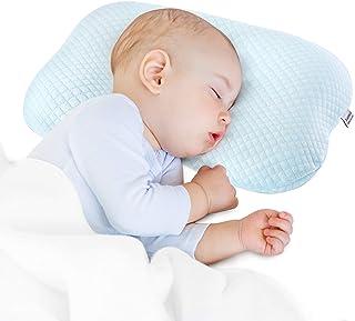 Bammax Baby Pillow Newborn, Flat Head Newborn Pillow, Baby Head Shaping Pillow, Soft Breathable Memory Foam Sleeping Pillo...