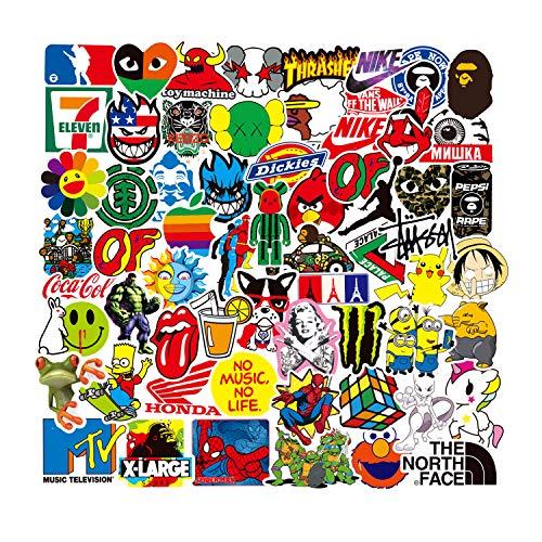 DIWSO Coole Aufkleber Pack (200-Stück) Trendy Sticker für Laptop, Motorrad, Skateboard, Wasserflasche, Telefon, Fahrrad, Gepäck, Auto, Gitarre Vinyl Aufkleber Aufkleber Wasserdicht