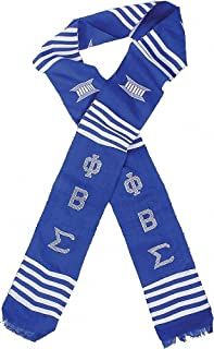 Phi Beta Sigma Sorority Graduation Kente Stole Sash [Blue - 72