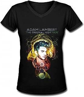 Adam Lambbert Contton Black Tshirt for Womens