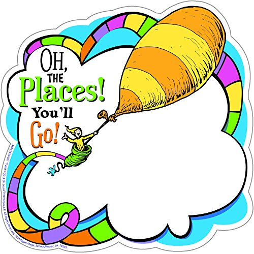 Eureka Dr. Seuss Oh The Places You'll Go! Paper Cut Outs for Schools and Classrooms, 36pc, 5.5' W x 5.5' H