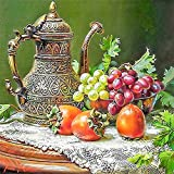 Paint by Numbers for Adults Fruit Teapot Paint by Numbers DIY Painting Acrylic Paint by Numbers Painting Kit Home Wall Decoration 16x20inch