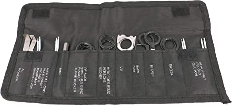 UTSAUTO 20 Pcs Radio Removal Tool Kit Audio Stereo CD Player Radio Removal Keys Tool Kit