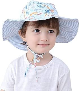Connectyle Kids Reversible Bucket Sun Hats Large Brim UPF 50+ Sun Protection Hat