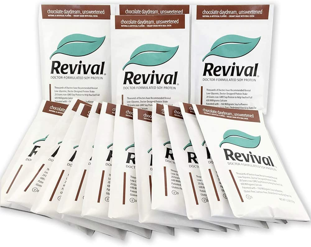 New Orleans Mall REVIVAL® Max 57% OFF MENOPAUSE RELIEF CHOCOLATE UNSWEET Protein S 20g Soy